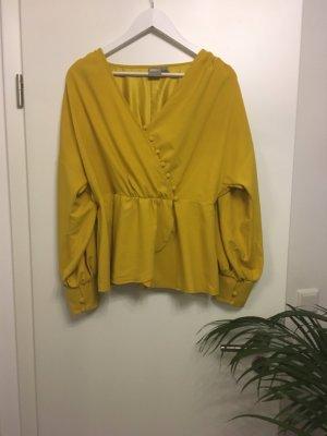 Asos Blouse met lange mouwen geel