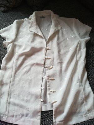 Bluse in weiß / creme