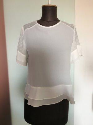 Bluse in weiß Gr 36 S