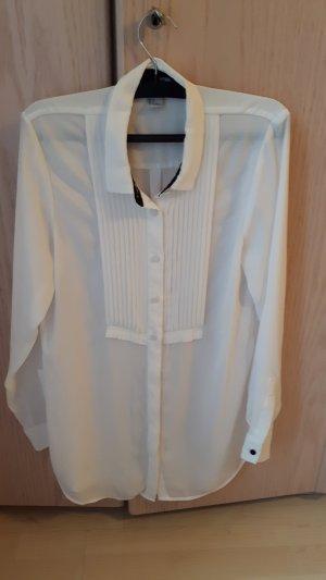 H&M Blouse à manches longues blanc-noir