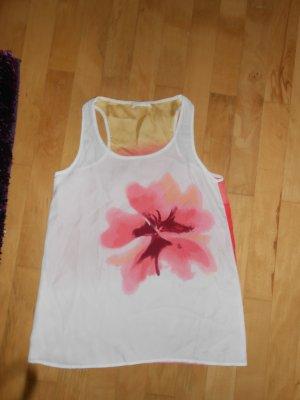 Bluse in weiß mit Blume vorne drauf
