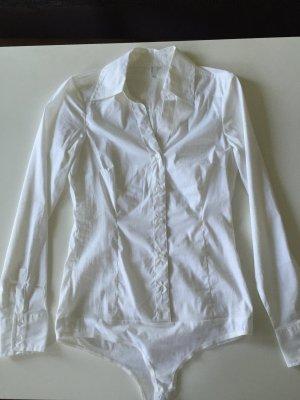 Bluse in weiß mit Body - neu & ungetragen