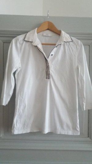 Bluse in Weiß mit Kragen