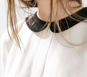 Bluse in wollweiß, Marke Zara