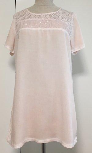 Bluse in zart rosa mit Pailletten