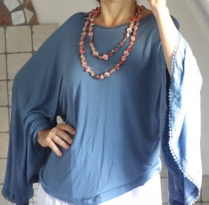 Isla Ibiza Tunique bleu acier-bleuet viscose