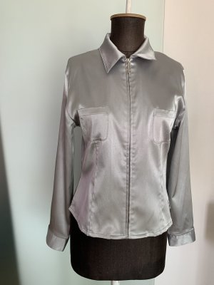 Street One Glanzende blouse zilver