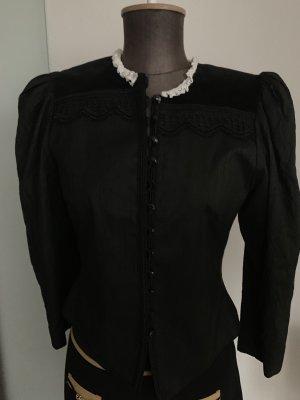 Bluse Jacke Vintage Look  Gr 36 38 S Spitze Seide Sylvester
