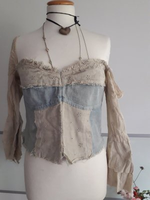 Bluse Jeans, Hippiestyle, Italy