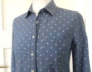 Bluse jeansblau Polkadots von J.CREW - Boyfriend