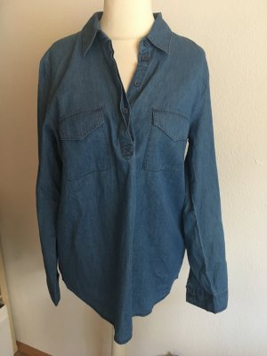 Bluse Jeansbluse locker Schlupfbluse blau Gr. 42 NEU