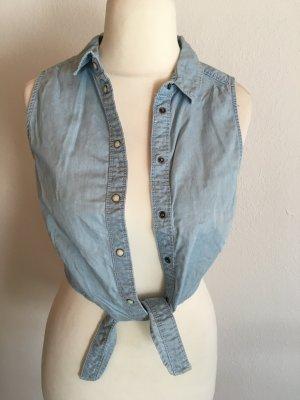H&M Blouse en jean bleu azur-bleuet