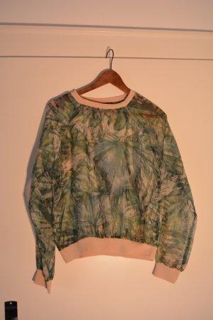 Zara Slip-over blouse grasgroen Synthetisch