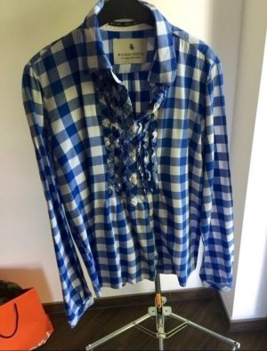 Maison Scotch Checked Blouse white-blue