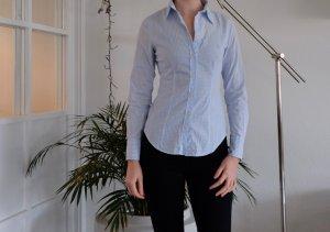 Bluse kariert hellblau weiß