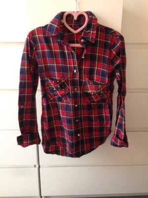 Blouse red-blue