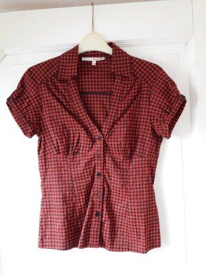 Bluse kariert, schwarz rot