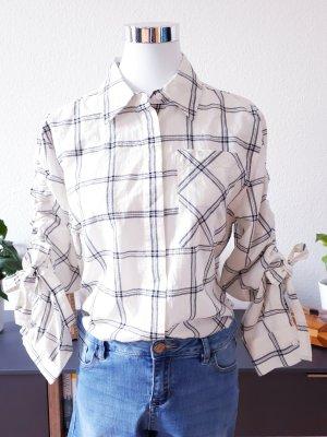 DKNY Geruite blouse wit-zwart