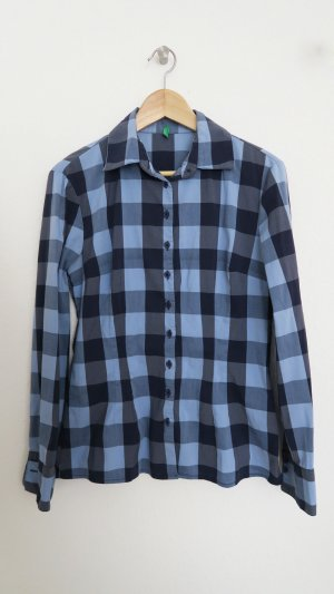 Benetton Checked Blouse multicolored