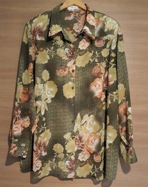 Bluse Khaki Oliv Rose Gr. 56 #424