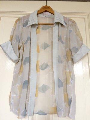 Bluse Kimono transparent graphic Vintage