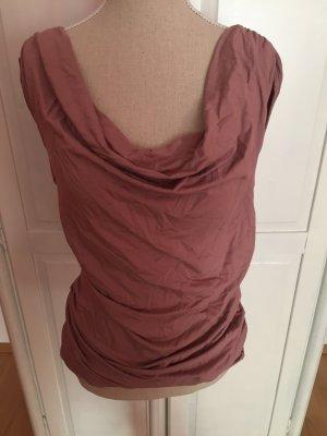 Bluse / Kleid rosa mit Ausschnitt ärmellos kaschiertop schulterfrei