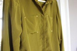 Bluse Kragen grün Khaki olivgrün Vero Moda