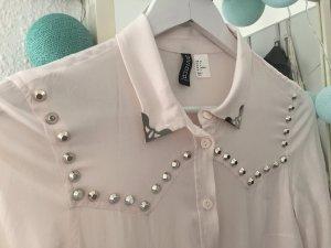 Bluse Kragen rose rosa Nieten Details Größe 34