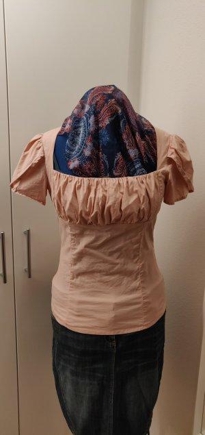 Bluse Kurzarm Baumwolle altrosa  Gr 36 / 38 raffiniert für viel Busen, 3x getragen