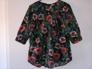 Bluse / Kurzarm / Blumen / Muster