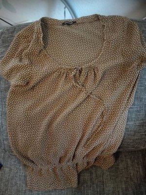 More & More Blusa bianco-marrone chiaro