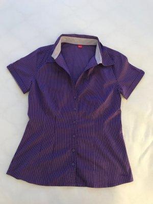 Bluse Kurzarm, Lila mit weißen Nadelstreifen, s.oliver, Gr. 36
