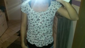 Bluse kurzarm mit Blumenprint