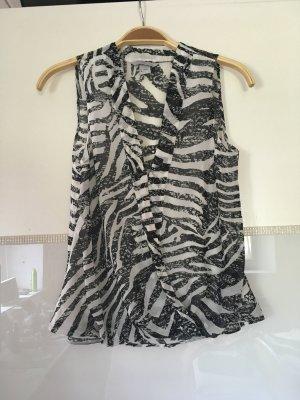 Bluse Kurzarm von H&M im Zebralook Größe XS