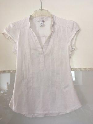 Bluse Kurzarm von H&M in weiß Größe 34