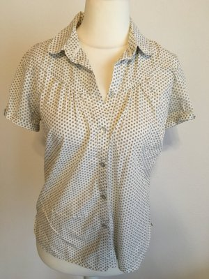 Bluse Kurzarm weiß gemustert sexy chic River Woods Gr. 40 TOP