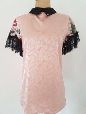 Roberta Biagi Camicetta a blusa nero-rosa pallido