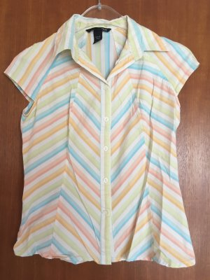 Bluse Kurzarmbluse Hemd Sommer Pastell Gr. 36