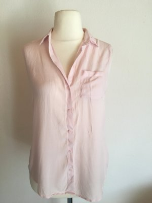 Bluse Kurzarmbluse locker leicht rosa Pastell Gr. 38