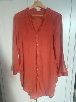 H&M Camicetta lunga arancione scuro