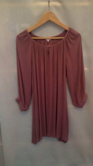 Bluse, lang, lila, Größe S/M, Baumwolle, leichter Sommerstoff