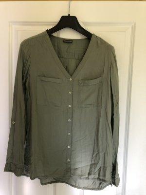 Bluse langärmelig khaki