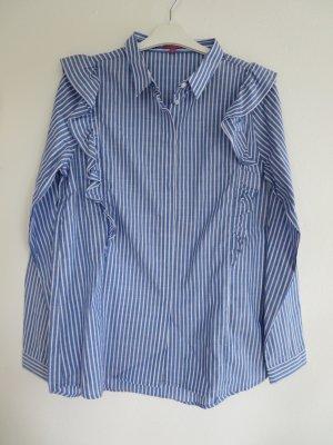 Bluse Langarm blau-weiß Breuninger Streifen