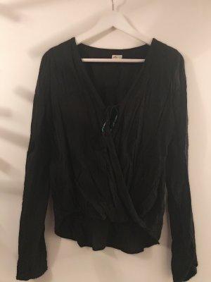 Bluse langarm in schwarz