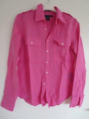 Bluse Langarm Trendfarbe pink US 10