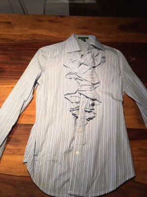 Bluse - Lauren by Ralph Lauren, hellblau gestreift, Größe S