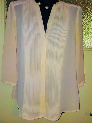 H&M Divided Stand-Up Collar Blouse pink-apricot