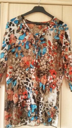 Blusa larga multicolor Poliéster