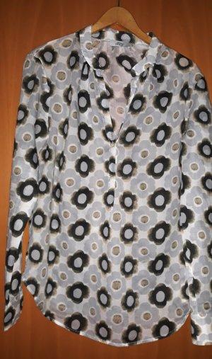 0039 Italy Blouse à manches longues multicolore coton
