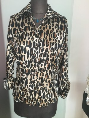 Bluse Leoparden Muster Gr 40 42 M L von Mary P.